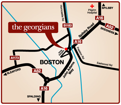 the georgians care home map